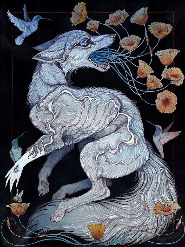 """Картина Кейтлин Хакетт (Caitlin Hackett) из цикла """"Современная мифология"""" (""""Contemporary Mythology"""") под названием """"Remember me"""""""