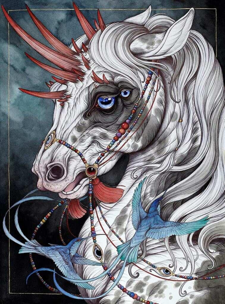 """Картина из цикла """"Современная мифология"""" (""""Contemporary Mythology"""") под названием  """"The Gift Horse"""""""
