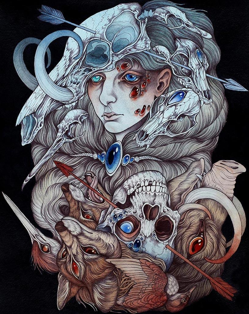 """Автор - Кейтлин Хакетт. Эта картина выглядит так, словно является не частью """"мифы"""" и арта, а воплощением самой матери-природы!"""