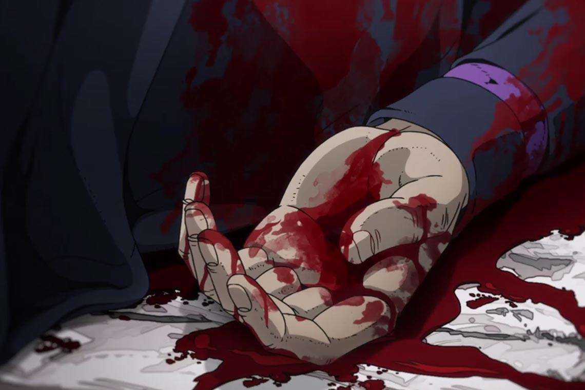 Смерть Леоне Аббаккио в 28 серии JoJo