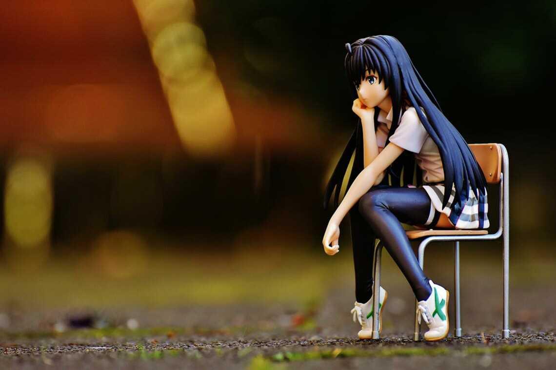 Фигурка из аниме тоже грустит от ограничений шикимори