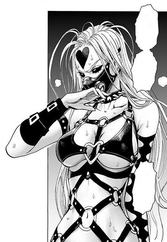 Садо-мазо Плётка - одна из самых экстравагантных девушек и чудовищ One-Punch Man