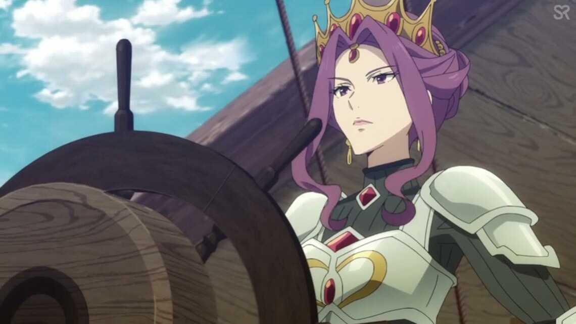 """Мирелия Кью Мелромарк (""""Мирелия, королева Мелромарка"""") отправляется в поход вместе с героем щита в 24 серии"""