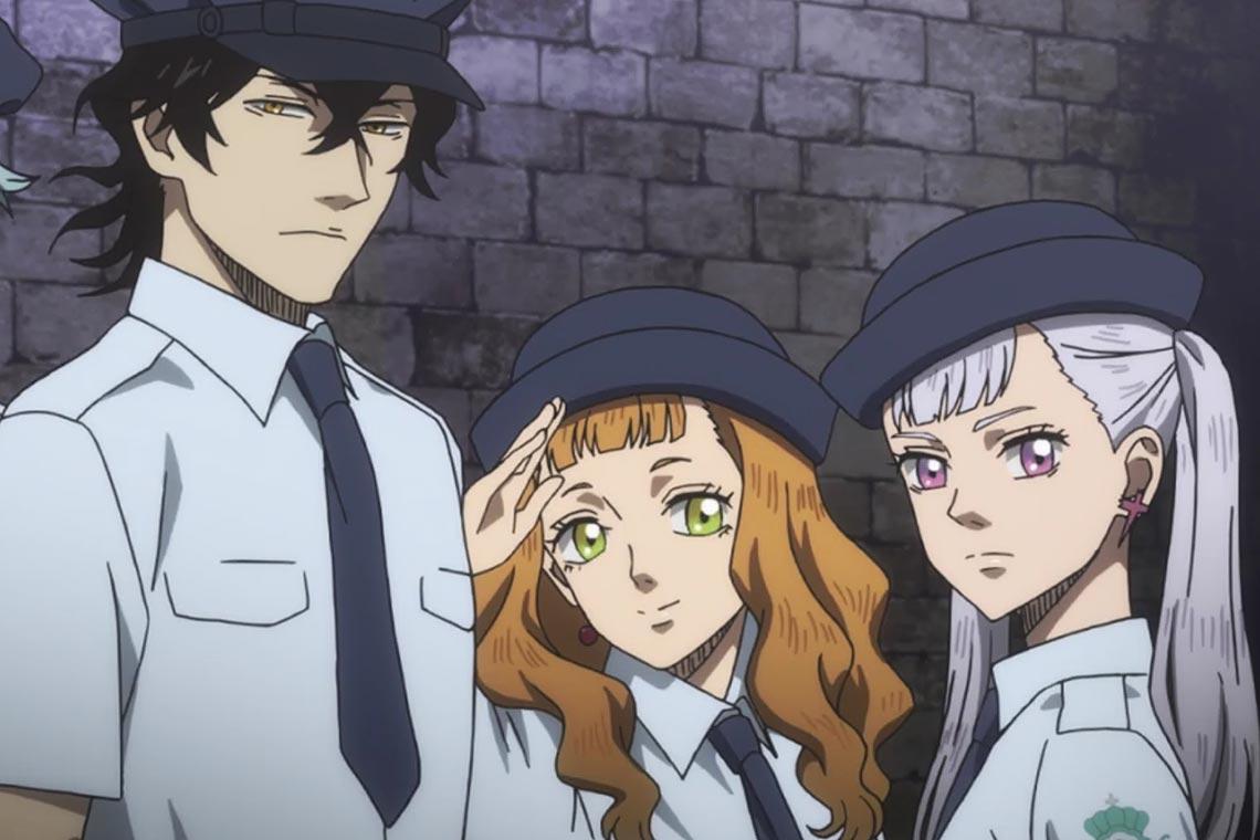 """87 серия аниме """"Чёрный клевер"""" - королевская полицейская мантия из """"Малого Клевера"""""""
