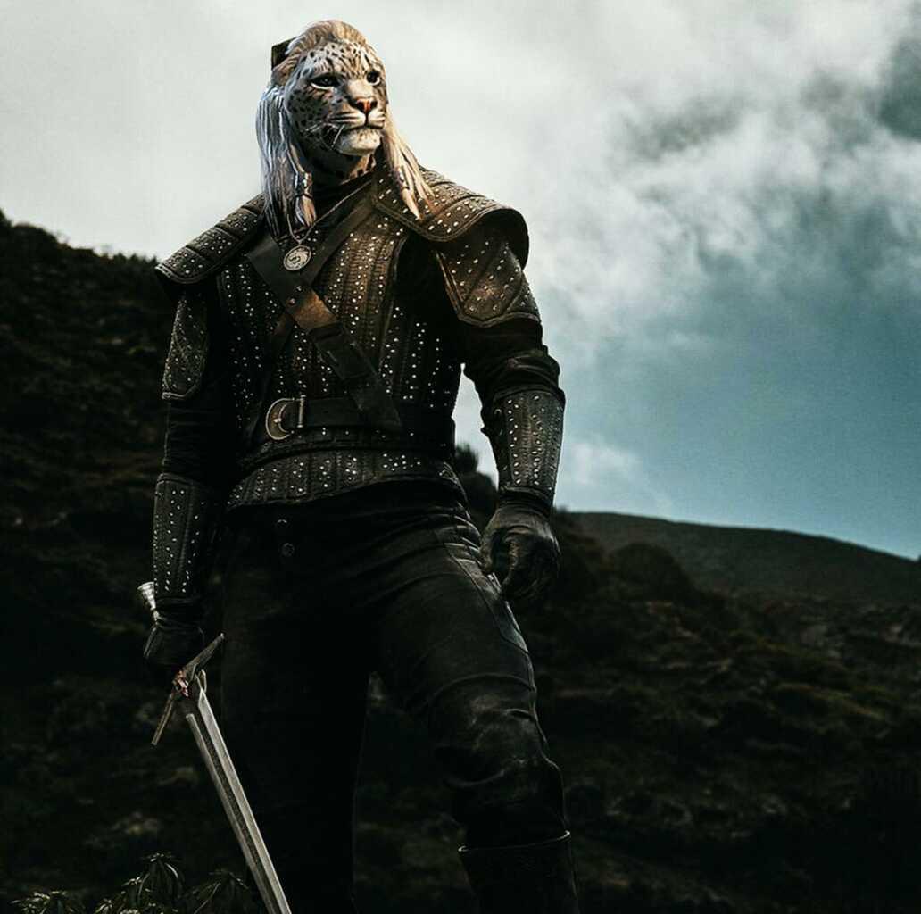 """Каджит - Геральт, сериал """"Ведьмак"""" от Netflix. Монтаж - Tengyart.  Khajiit as Geralt Of Rivia, thw witcher, Netflix."""