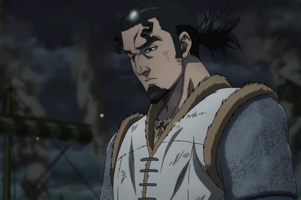 Торс из аниме Vinland Saga, 1 серия, 1 сезон (кадр из сцены боя на корабле)