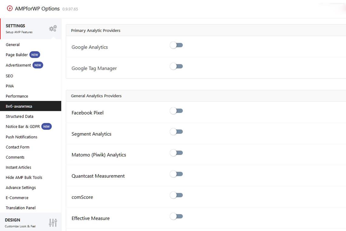 Добавление Яндекс Метрики в AMP версию сайта WordPress при помощи плагина AMP для WP