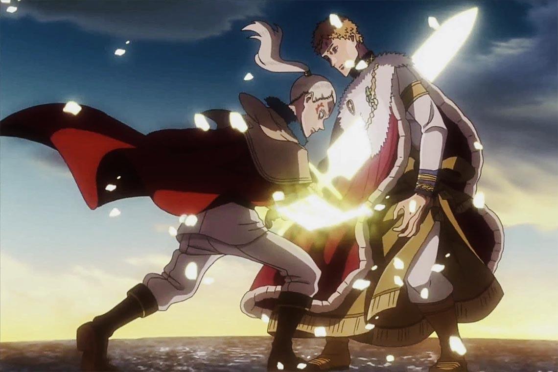 Чёрный клевер 93 серия: Лихт пронзает мечом Юлия Новахроно (короля магов из аниме чёрный клевер)
