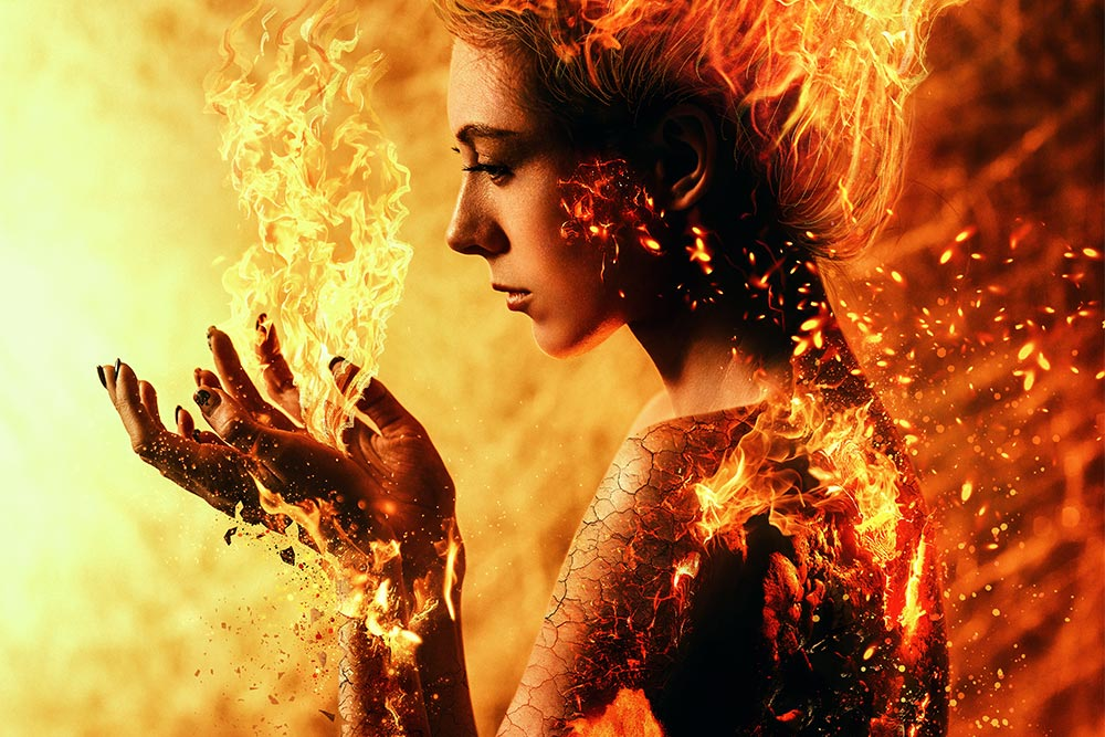 "Фотоарт ""Тёмный Феникс"" / Dark Phoenix photoart by Tengyart"