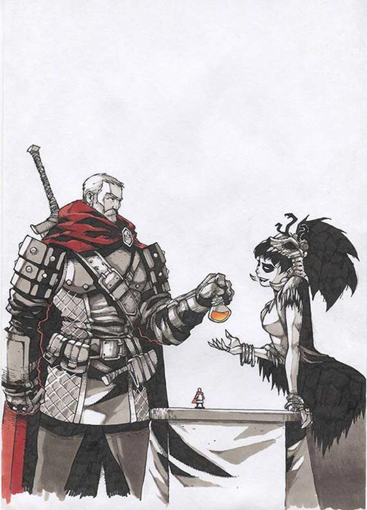 Чародейка вручает проклятое лекарство (the cursed cure art-veider)