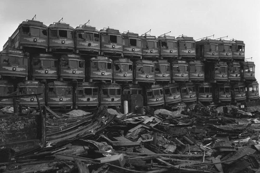 Кладбище трамваев, Америка, 20 век (заговор General Motors)