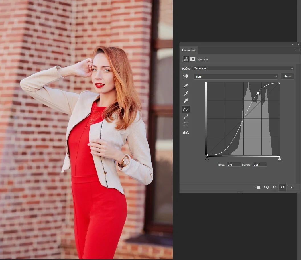 Изменение силы воздействия s-образной кривой после применения яркостных масок (luminosity masks) в Adobe Photoshop