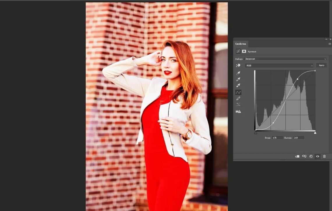 Фотография до использования яркостной маски (luminosity masks) для кривой в Adobe Photoshop