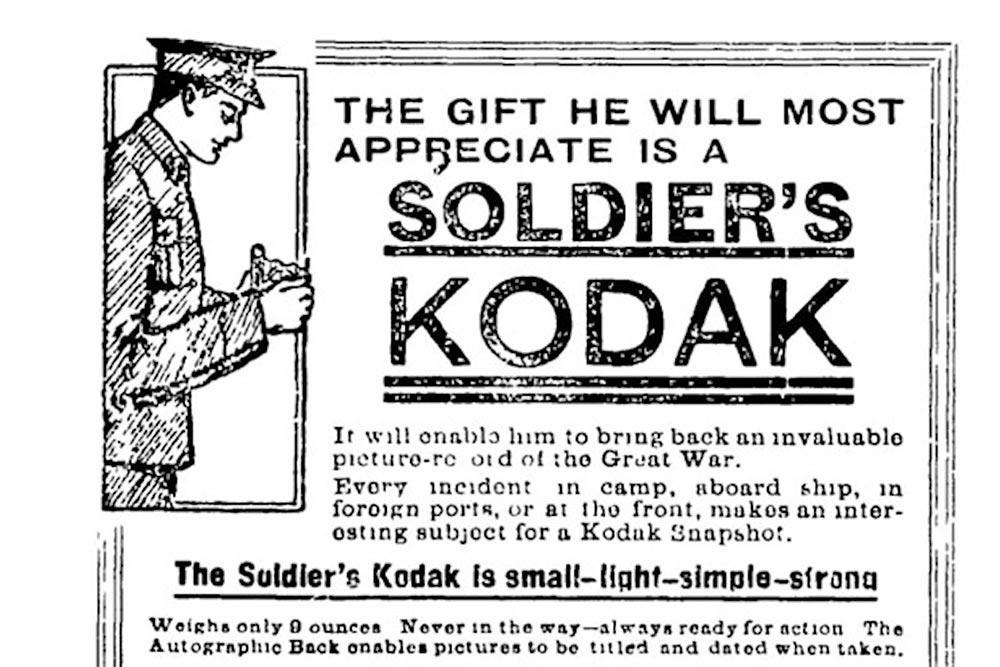 Soldier's camera Vest Pocket Autographic Kodak news