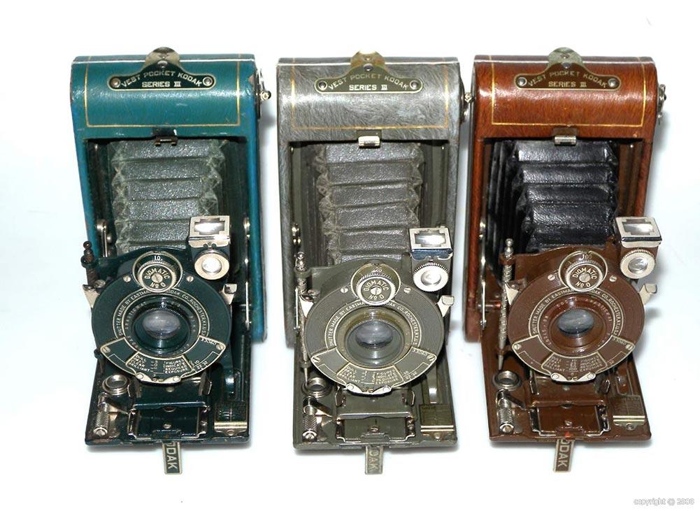 Пример фотоаппаратов Vest Pocket Kodak Series III, HD фото