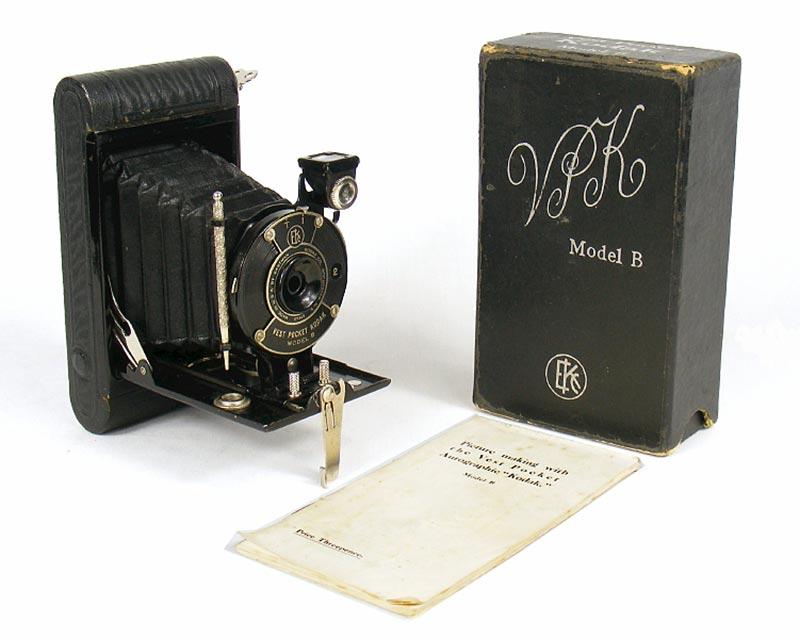Пример одной из самых популярных и доступных камер из серии Vest Pocket Kodak - Model B