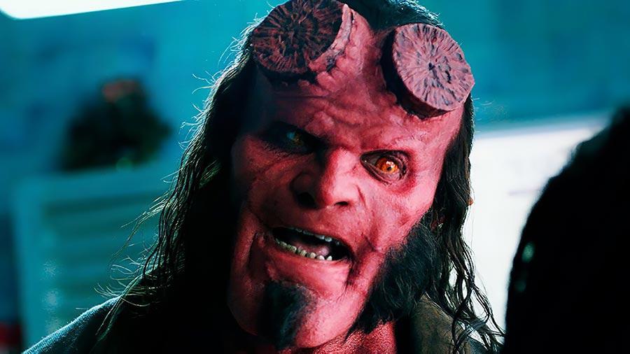 Hellboy 2019: лицо главного героя отлично передаёт реакцию на весь фильм