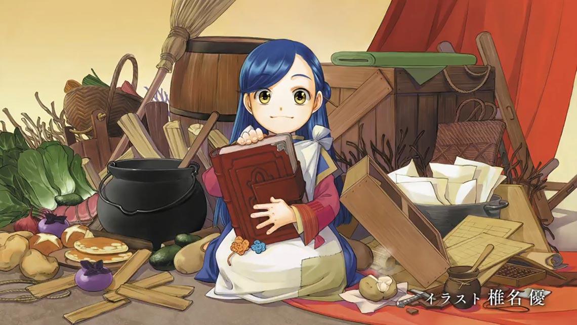 3 серия аниме Honzuki no Gekokujou, арты в конце серии
