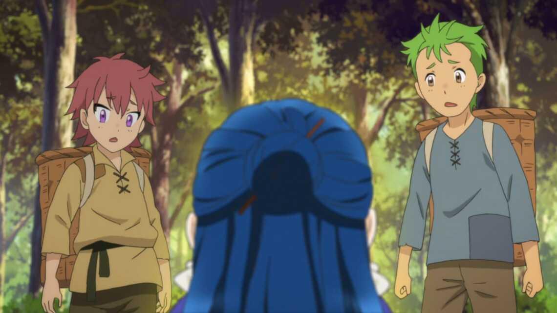 """Яростьб Майн пробуждает магию (?) в 4 серии аниме  """"Власть книжного червя"""" (Honzuki no Gekokujou)"""