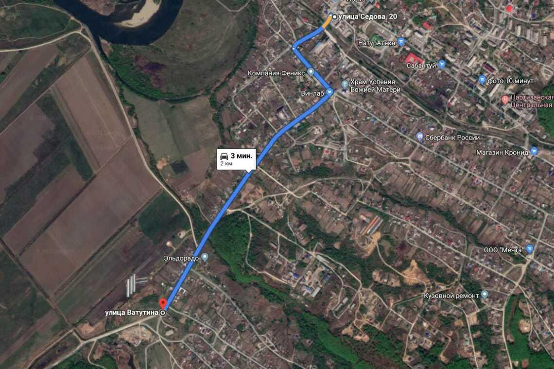 Расстояние между автовокзалом в Будёновке и началом трассы Врангель - Будёновка