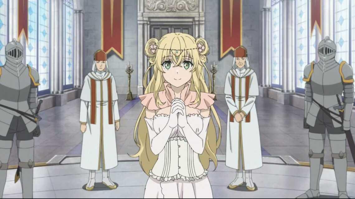 Принцесса, призвавшая Гензо в другой мир из аниме аниме Hataage! Kemono Michi (Дорога зверя)