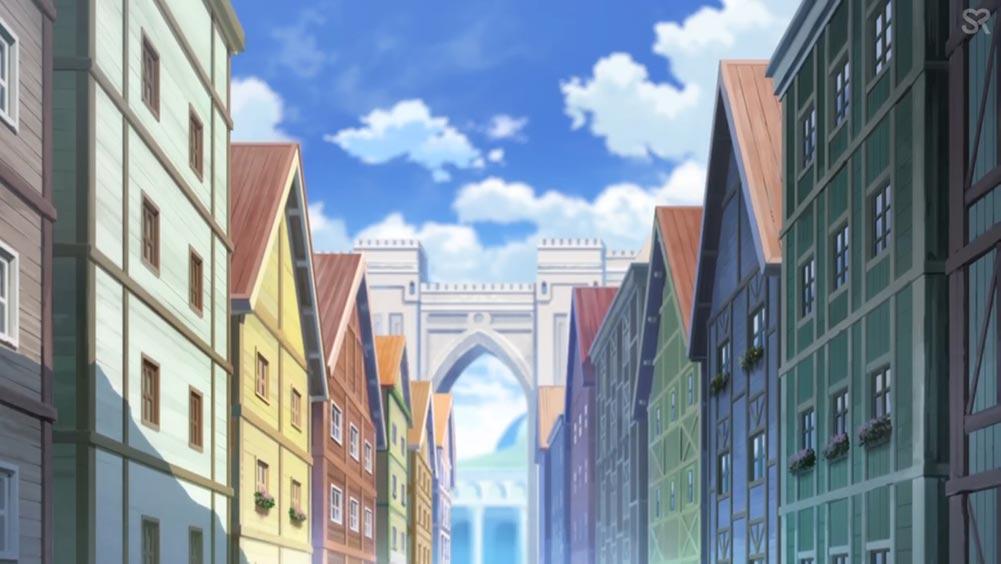 Город в аниме Honzuki no Gekokujou (Власть книжного червя)