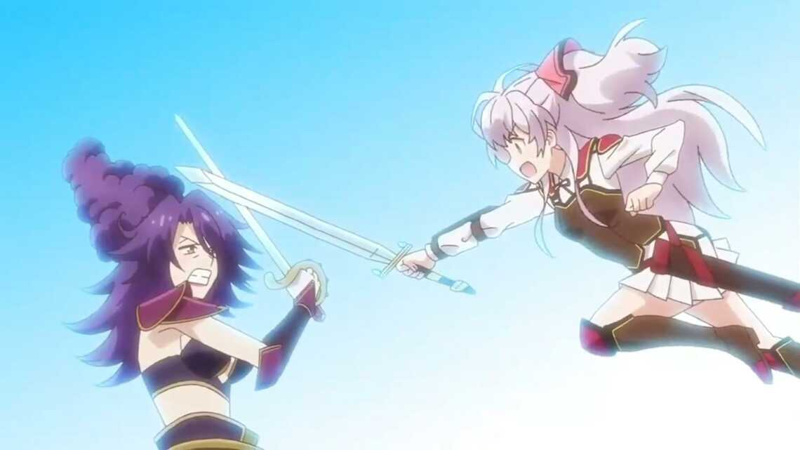 Майл против аристократки, решившей закрыть школу в 3 серии аниме Watashi, Nouryoku wa Heikinchi de tte Itta yo ne