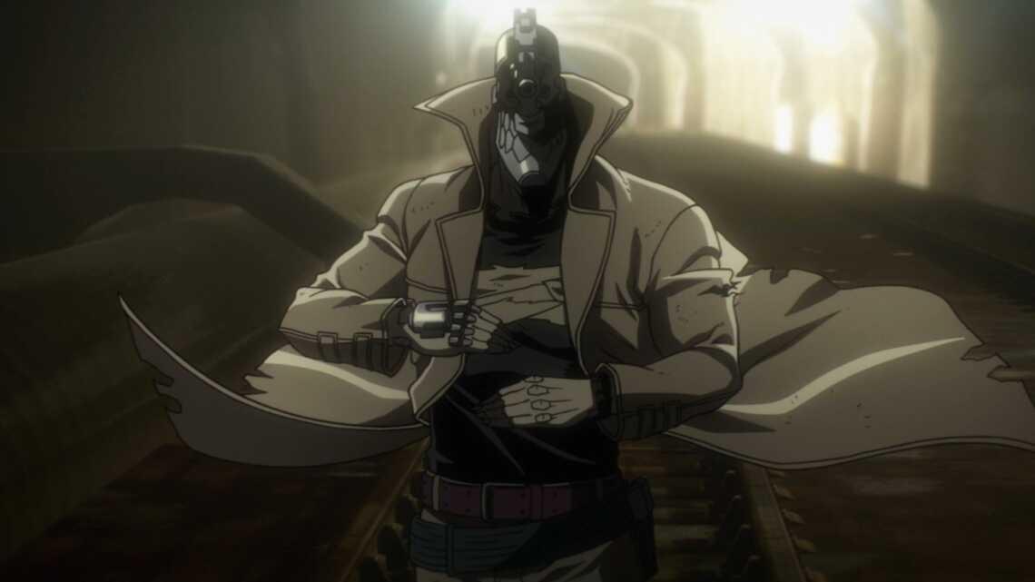 Кадр из аниме No Guns Life