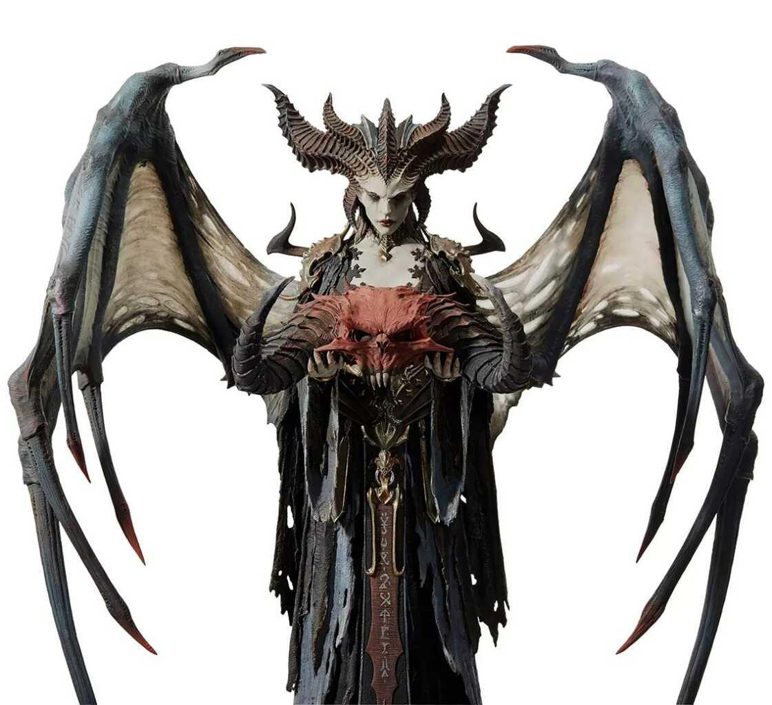 Blizzard Premium Lilith Sculpture photography 8k and 4k | wallpaper 4k Lilith Diablo 4 Blizzard games