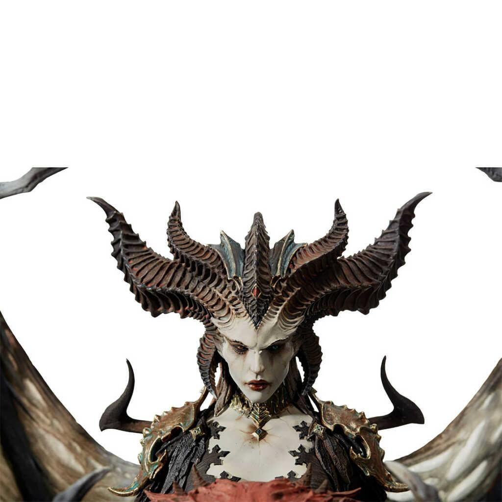 Blizzard Sculpture Diablo 4 Lilith 4K background