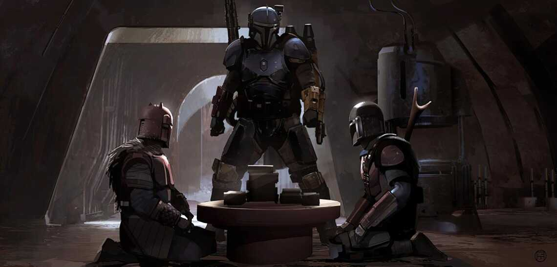 Mandalorian concept art 8K and 1140pix wallpaper