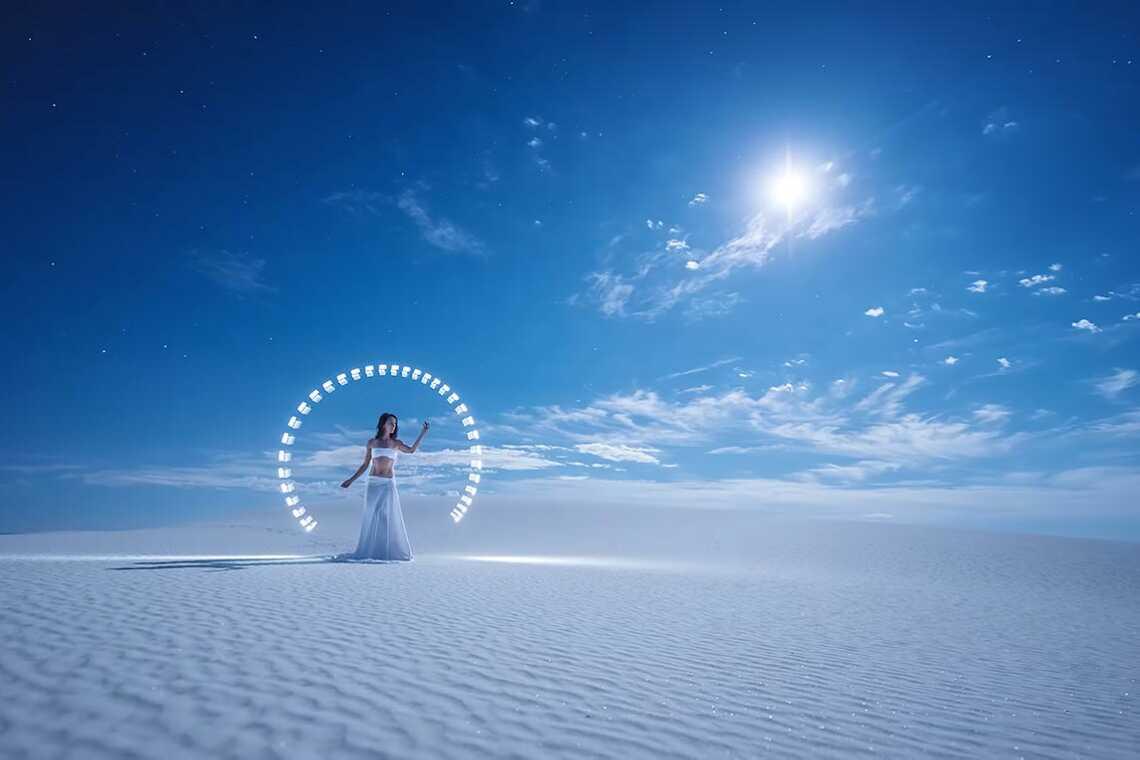 как получить отличный фон при съёмке freezelight фото, фотограф Eric Pare