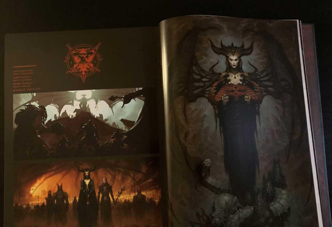 Лилит из игры Diablo 4, The Art of Diablo, утечки из книги по игре