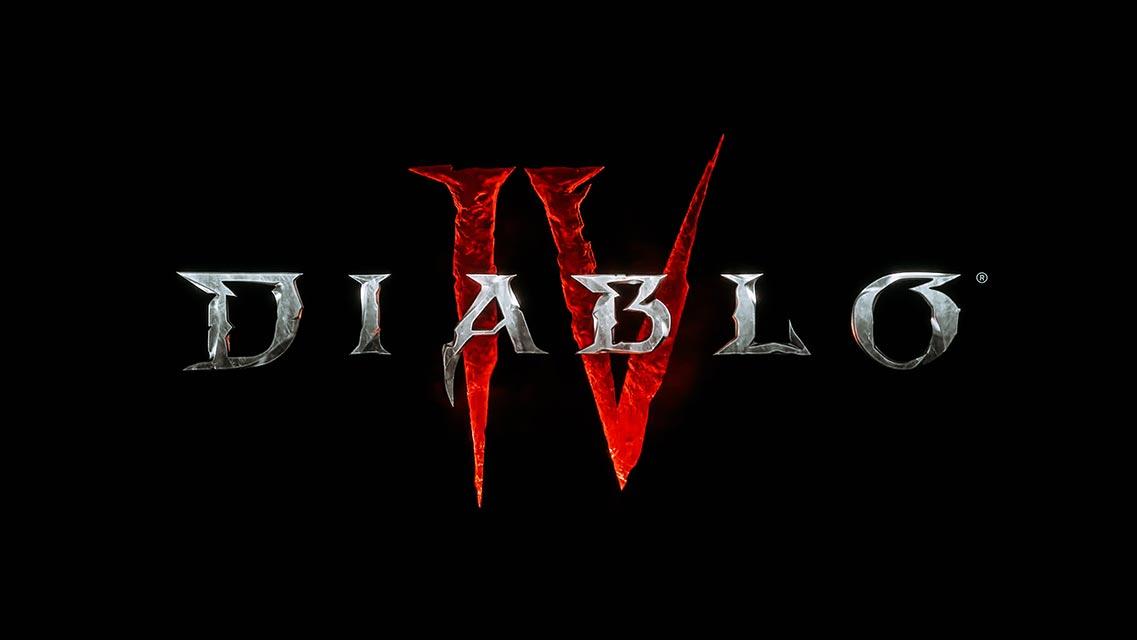 Diablo 4 8K logo wallpaper free