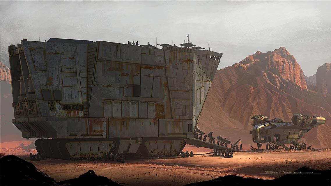 """Джавы разбирают космический корабль, 2 эпизод сериала """"Mandalorian"""" - изображение 1140pix + 4K"""