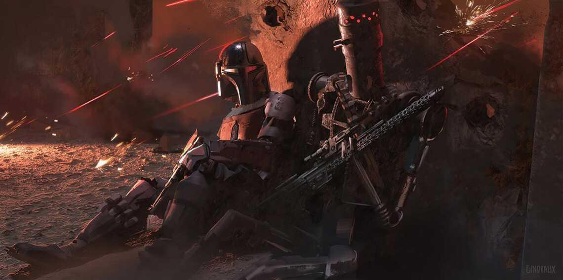 "дроид-убийца IG-11, сериал ""Мандалорец"", изображение в формате 4K"