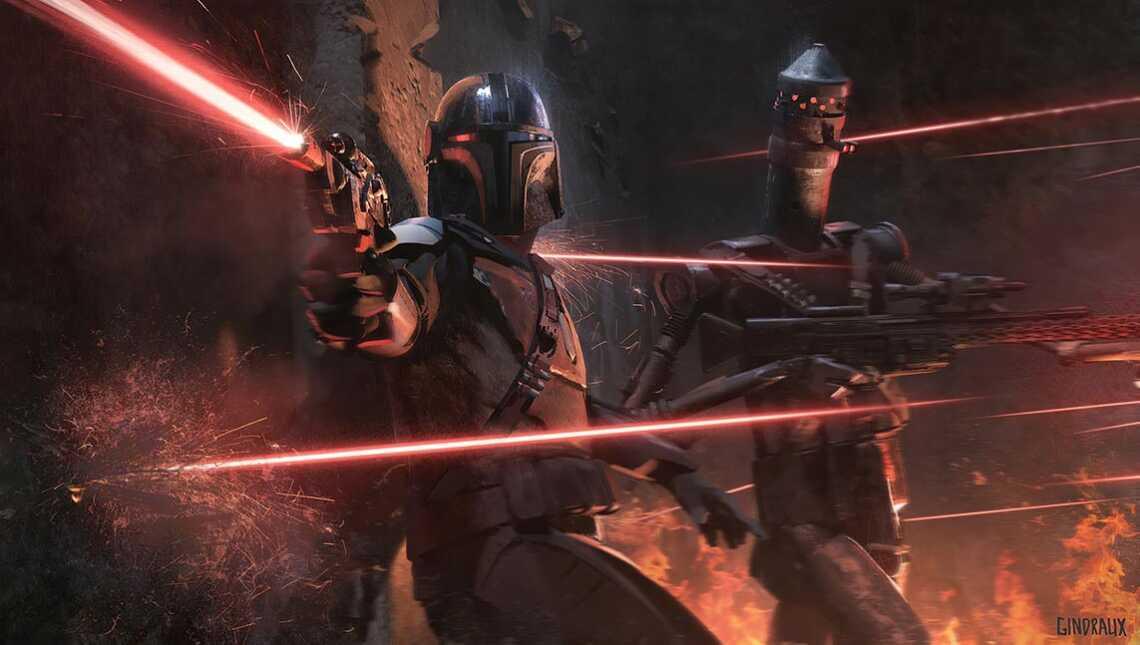 Mandalorian battle and assasin droid ig-11 - обои 4K