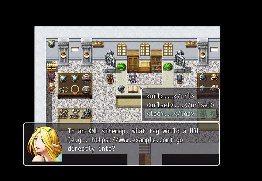 SEO как игра на примере обучающего сайта The Search (скриншот)