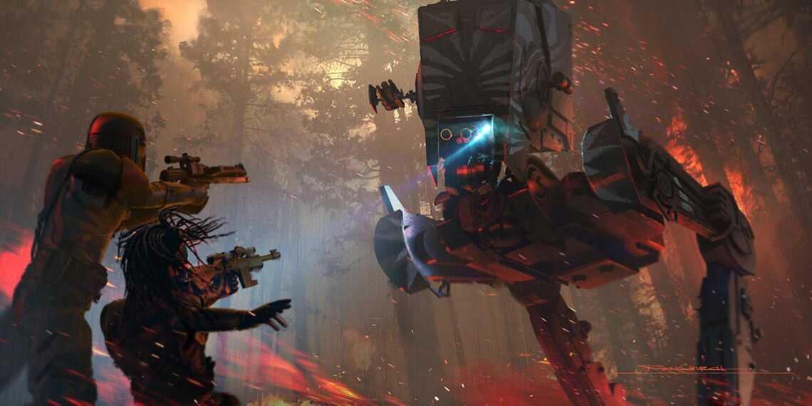 "Концепт-арт 4 эпизода сериала ""Мандалорец"" | Mandalorian chapter 4 official 4k wallpaper"