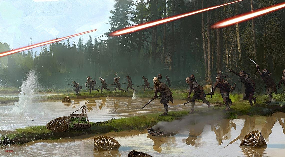 "Арт с битвой сериал ""Мандалорец"" 4K | Mandalorian war 4K wallpaper"