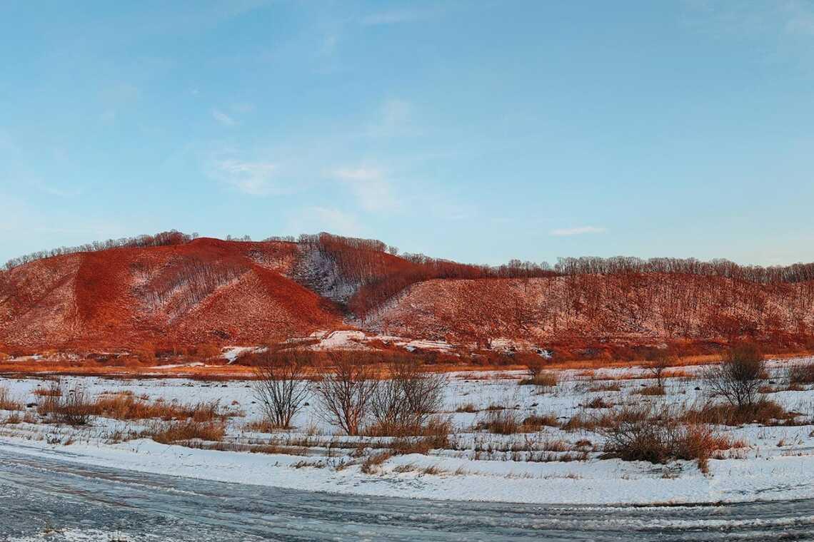 Фотография зимнего пейзажа в Приморье, фотография со смартфона Realme XT