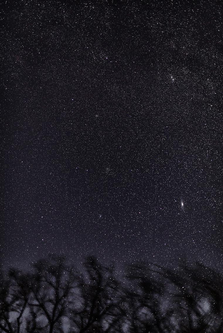 Пример фотографии звёздного неба на Canon 5D mark 4