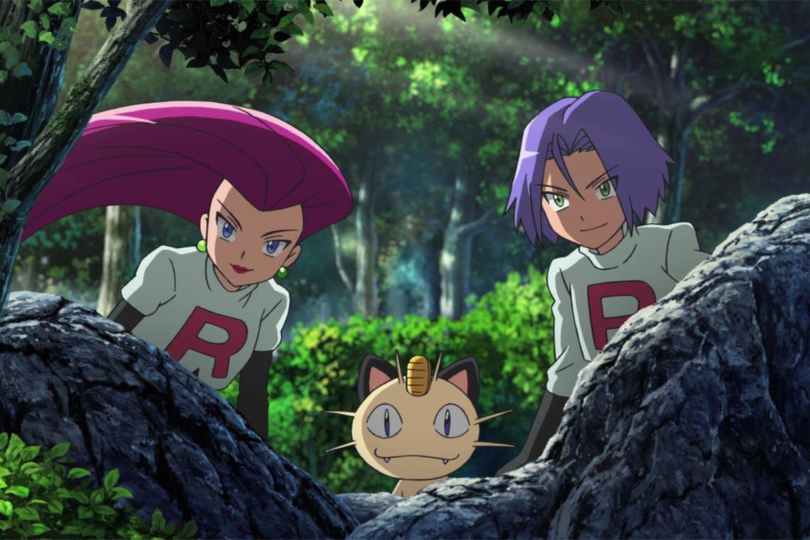 """Неразлучное трио Team Rocket (команда R) Джесси, Джеймс и Мяуф из аниме """"Покемон"""""""