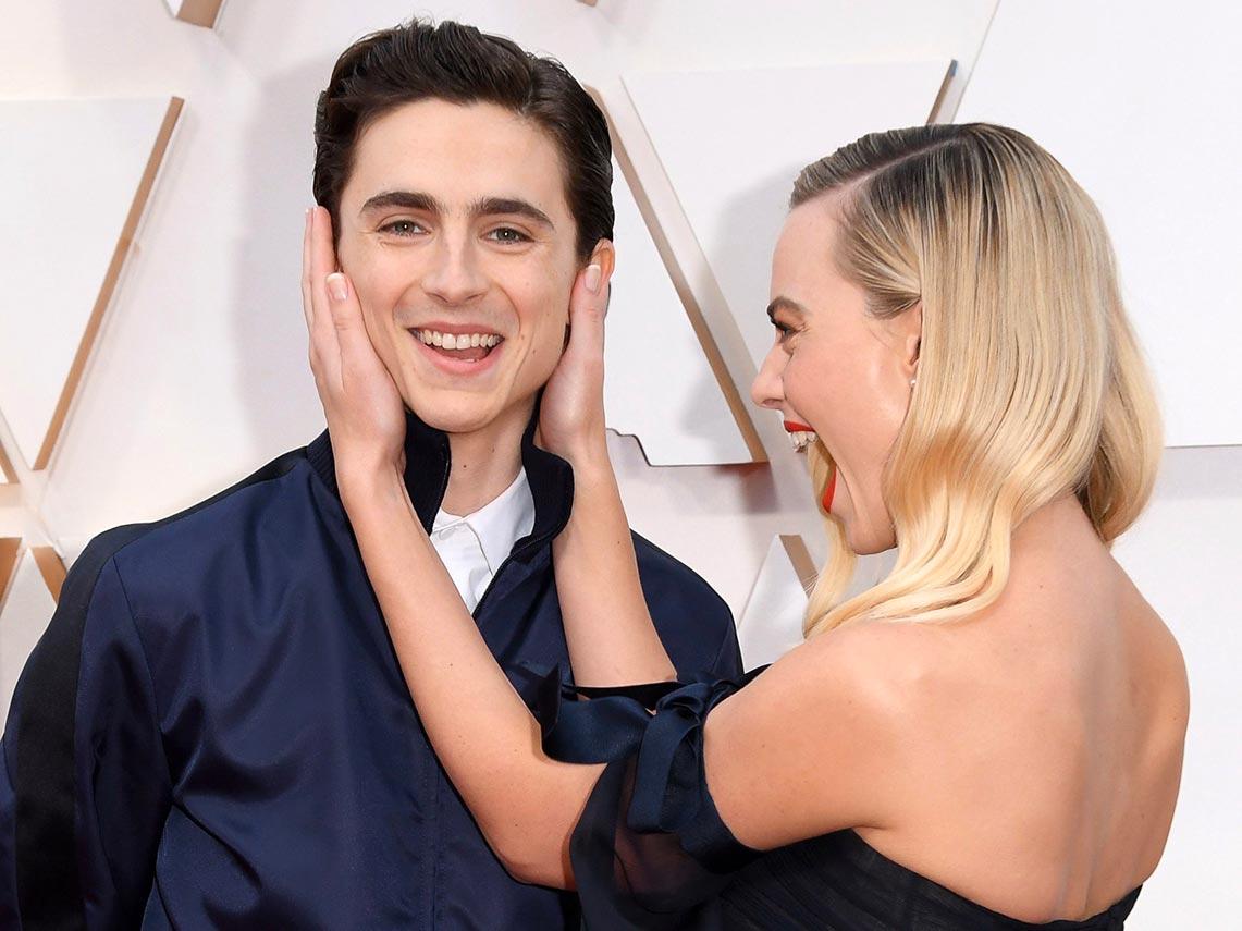 Тимоти Шаламе и Марго Робби, фото на красной ковровой дорожке (Oscars ceremony)
