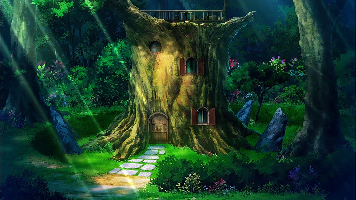 """Дом гильдии """"Кленовое Дерево"""" из аниме """"Не люблю боль, поэтому собираюсь вложить всё в защиту"""" (bofuri), картинка в разрешении 4K UHD"""