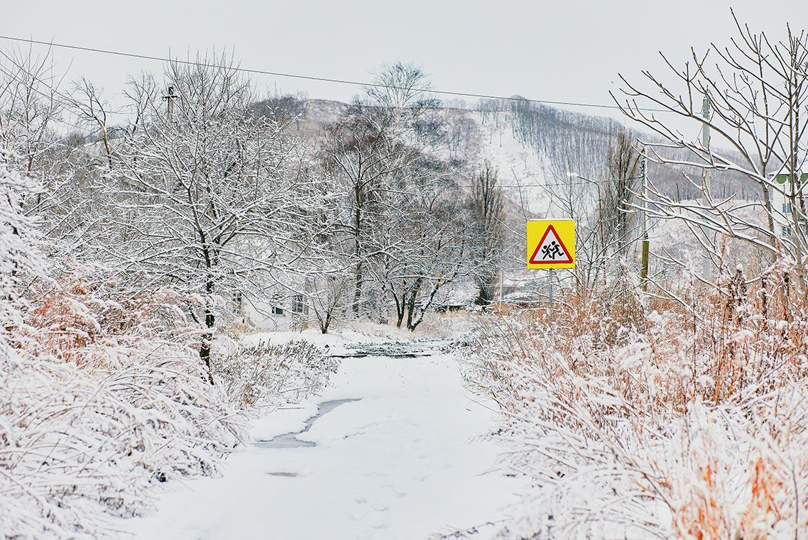 Зимняя сказка в Золотой Долине - снегопад в Приморье 11 марта (подборка фото)