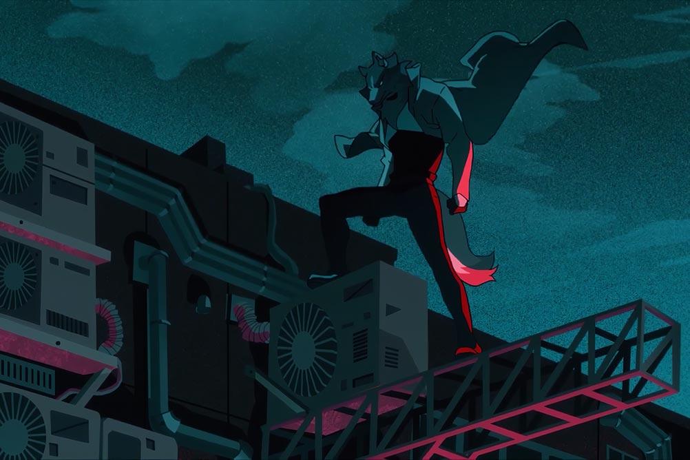 """Shirou Ogami (Широ Огами) BNA (Brand New Animal) - волк-зверолюд из сериала """"Совершенно новый зверь"""" от студии Trigger, 2020 год"""