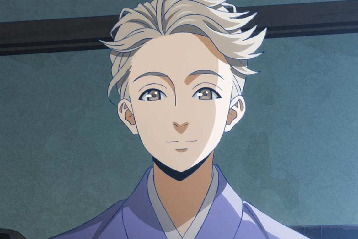 Впечатления от просмотра 1 серии аниме Kitsutsuki Tanteidokoro (Детективное агентство Дятел, Woodpecker Detective's Office), на скриншоте - поэт-детектив Такубоку Исикава (Takuboku Ishikawa)