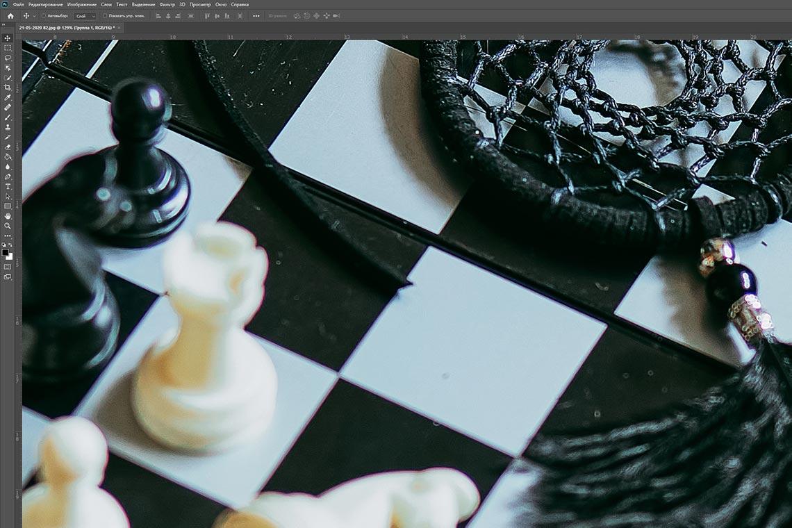 Как очистить фон от пыли в Adobe Photoshop - пример фото до ретуши