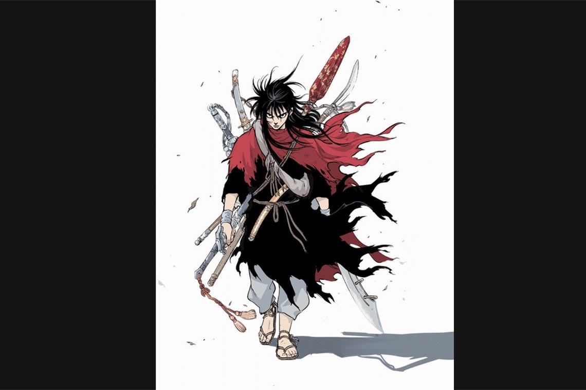 Мастер (Gosu, The Master) - манхва для любителей пельмешек и боевых искусств, на картинке изображён главный герой - Ганг Рён